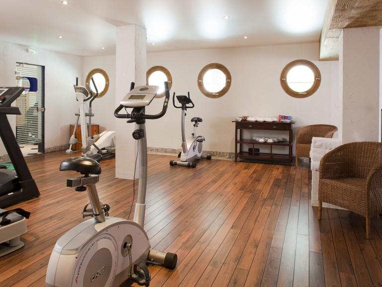 Salle de fitness.